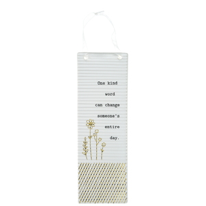 "Kind Words by Thoughtful Words - 7.25"" Hanging Plaque"