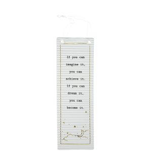 "Imagine, Achieve, Dream by Thoughtful Words - 7.25"" Hanging Plaque"