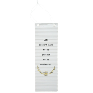 "Life by Thoughtful Words - 7.25"" Hanging Plaque"