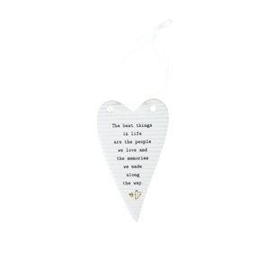 "Best Things by Thoughtful Words - 4"" Hanging Heart Plaque"