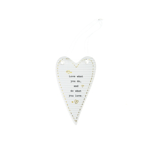 "Do What You Love by Thoughtful Words - 4"" Hanging Heart Plaque"