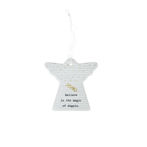 "Angel Magic by Thoughtful Words - 3"" Hanging Angel Plaque"
