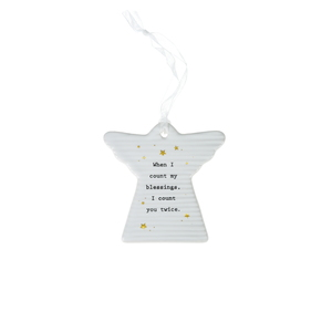 "Angel Blessings by Thoughtful Words - 3"" Hanging Angel Plaque"