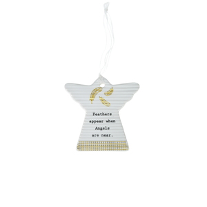 "Angel Feathers by Thoughtful Words - 3"" Hanging Angel Plaque"