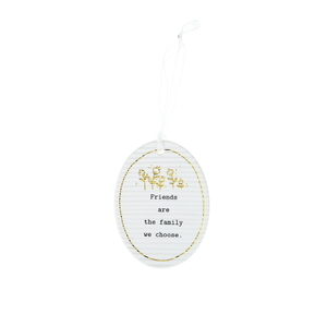 "Family We Choose by Thoughtful Words - 3.5"" Hanging Oval Plaque"