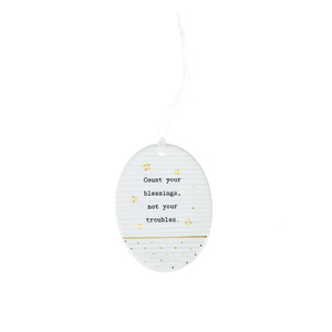 "Blessings by Thoughtful Words - 3.5"" Hanging Oval Plaque"