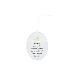 "Mothers by Thoughtful Words - 3.5"" Hanging Oval Plaque"