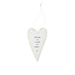 "Nurse by Thoughtful Words - 4"" Porcelain Heart Plaque"