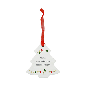 "Sister by Thoughtful Words - 3.75"" Christmas Tree Ornament"