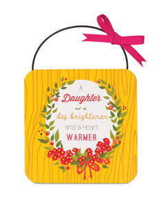 "Daughter by Words to Breathe By - 4"" MDF Plaque"