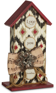 "Grandma by Simple Spirits - 8"" Birdhouse Plaque"