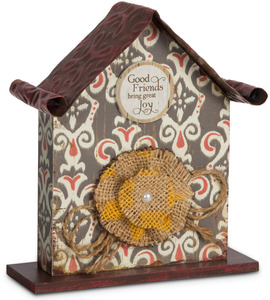 "Good Friends by Simple Spirits - 6.5"" Birdhouse Plaque"