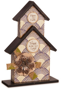 "Trust in the Lord by Simple Spirits - 8.5"" Birdhouse Plaque"