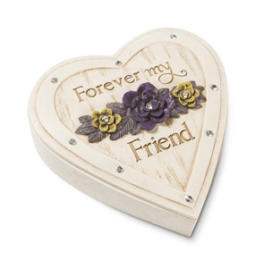 "Friend by Simple Spirits - 4"" Heart Keepsake Box"