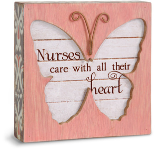 "Nurse by Simple Spirits - 4.5"" Butterfly Plaque"