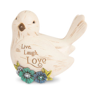 "Live, Laugh, Love by Simple Spirits - 3.5"" Bird Figurine"