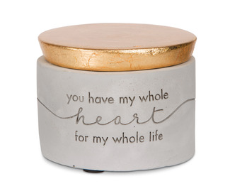 "My Heart by Sweet Concrete - 3"" x 2.25"" Cement Keepsake Box"
