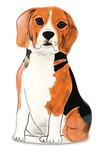 "Mandy - Beagle by Rescue Me Now - 8.25"" Small Dog Vase"