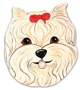 "Sherri Kay - Yorkshire by Rescue Me Now - 11"" Dog Plate"