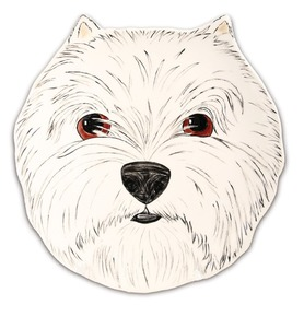 "Dee Oh Gie - West Highland by Rescue Me Now - 10"" Dog Plate"