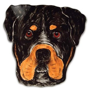 "George - Rottweiler by Rescue Me Now - 10"" Dog Plate"