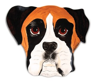 "Tyson - Boxer by Rescue Me Now - 10"" Dog Plate"