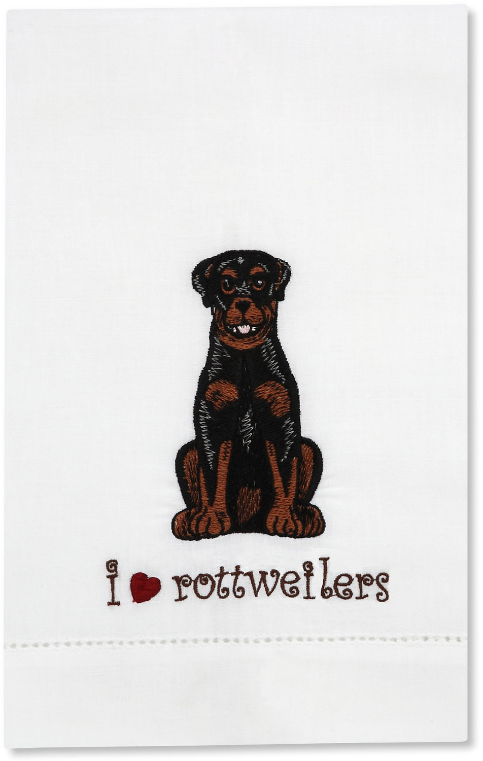 George - Rottweiler by Rescue Me Now - George - Rottweiler - Tea Towel