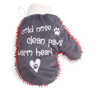 Warm Heart by Pavilion's Pets - Microfiber Pet Cleaning Mitt