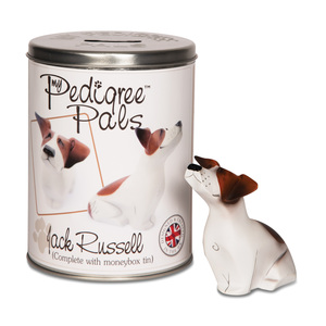 "Jack Russell by My Pedigree Pals - 4"" Dog  Figurine/Coin Bank"