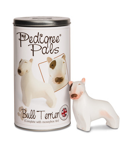 "English Bull Terrier by My Pedigree Pals - 4"" Dog  Figurine/Coin Bank"