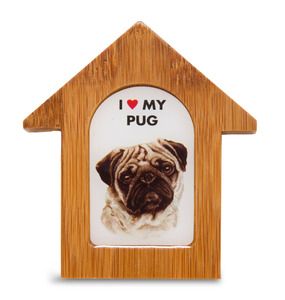 "Pug by Waggy Dogz - 3.5"" Self-Standing Magnet"