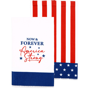 "America Strong by Red, White, & Blue Crew - Tea Towel Gift Set (2 - 19.75"" x 27.5"")"