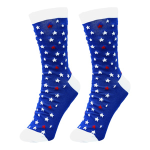 America Strong by Red, White, & Blue Crew - S/M Unisex Cotton Blend Sock