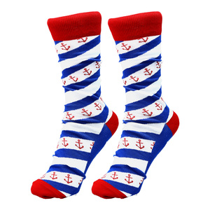 Lake by Red, White, & Blue Crew - S/M Unisex Cotton Blend Sock