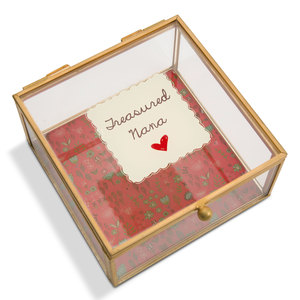 "Nana by A Mother's Love by Amylee Weeks - 4.25"" x 4.25"" Glass Keepsake Box"