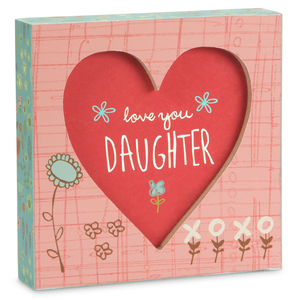 "Daughter by A Mother's Love by Amylee Weeks - 4.5"" x 4.5"" Plaque"