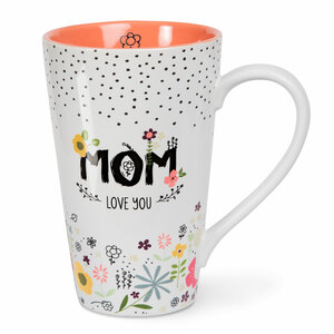 Mom by Love You More - 18 oz Latte Cup