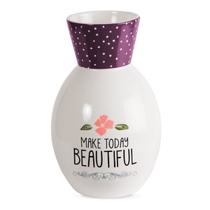 "Beautiful by Love You More - 6.5"" Ceramic Vase"