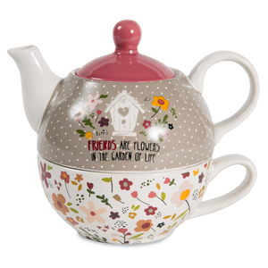 Friends by Bless My Bloomers - 15oz Teapot & 8oz Cup