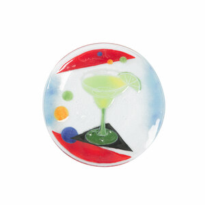 "Cocktails by Fusion Art Glass - Margarita 8"" Round Plate"