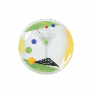 "Cocktails by Fusion Art Glass - Martini 8"" Round Plate"