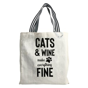 Cats & Wine by Check Me Out - 100% Cotton Twill Gift Bag