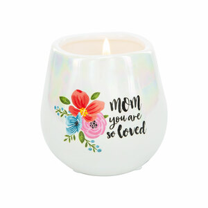 Mom by Bunches of Love - 8 oz - 100% Soy Wax Candle Scent: Serenity