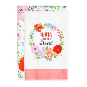 "Nana by Bunches of Love - Tea Towel Gift Set (2 - 19.75"" x 27.5"")"