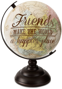 "Friends by Global Love - 10.75"" Decorative Globe"