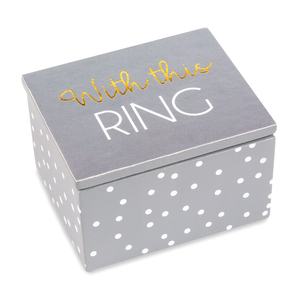 Ring by Happy Occasions - 2.25 x 2 x 1.5 MDF Keepsake Box