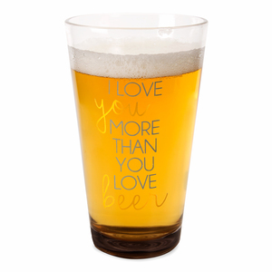 Beer by Happy Occasions - 16 oz Pint Glass Tumbler