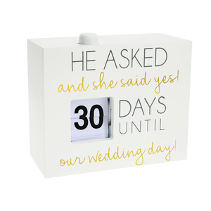 "Wedding Day by Happy Occasions - 4.5"" Countdown Calendar"