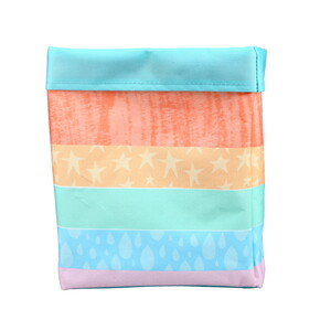 "Rainbow Stripes by Sunshine & Rainbows - 7.25"" x 9"" Canvas Basket"
