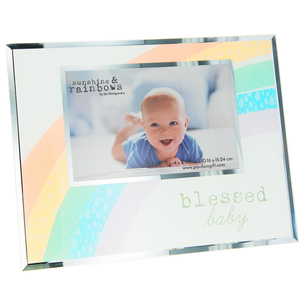"Blessed Baby by Sunshine & Rainbows - 9.25"" x 7.25"" Frame (Holds 6"" x 4"" Photo)"